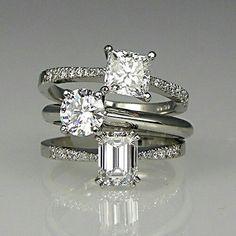 Princess Cut Diamond &Brilliant Cut Diamond &Emerald Cut Diamond