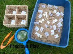 Sand box letter recognition and phonics
