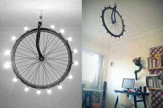 bicicleta luminária #decoracao #sustentabilidade #reciclagem