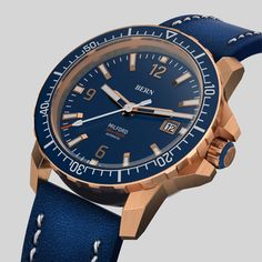 Coming Soon  to kickstarter, register your interest today on bernwatch.com  42mm Solid Bronze Case, powered by Miyota 8215 japanese Automatic movement, 300m/1000ft Dive depth, unidirectional clicking bezel with Swiss X1-Grade GL-C3 Superluminova on indexes, hands and aluminium bezel insert. Anti Reflective coated Sapphire Crystal.  Top Spec Men's Watches, Watches For Men, Bern, Watch Brands, Omega Watch, Diving, Bronze, Crystals, Accessories