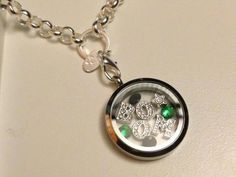 Necklace from Origami Owl ... It Works! Black, Green & Bring #ItWorksBoom