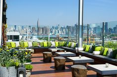Summer and Spring, visit the rooftop bat at the Elm for sexy atmosphere and an amazing view of NYC.