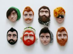 A Boyfriend Pin - your very own handsome hipster :) FforFelt on ETSY