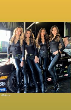 Four extraordinarily beautiful women wearing leather! Fit Women, Sexy Women, Monster Energy Girls, Pit Girls, Promo Girls, Umbrella Girl, Leder Outfits, Biker Girl, Sexy Hot Girls