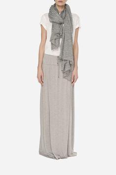 2 Cotton maxi skirt - 550zł (135€), Cotton t-shirt - 250zł (60€), Cotton scarf - 360zł (95€)