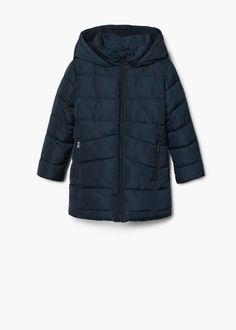 cce83679eb9 Quilted long coat Impermeables Para Niños