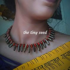 Real seeds neckpiece by the tiny seed contact:9619179955