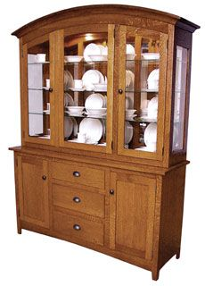 Amish Outlet Store : Olde Century Mission Hutch in Rustic Q.S. White Oak