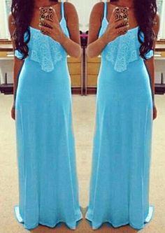 Alluring Spaghetti Strap Sleeveless Spliced Solid Color Women's Dress Summer Dresses   RoseGal.com Mobile