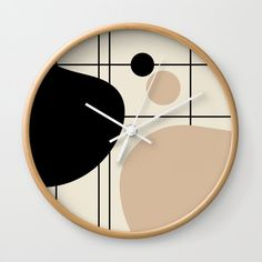 Lines and Curves - Set 1 Wall Clock by laec Clocks, Curves, Creative, Wall, Artwork, Work Of Art, Auguste Rodin Artwork, Clock