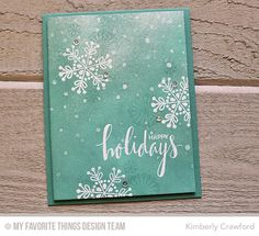 Hand Lettered Holiday, Snowflake Flurry, Snowfall Stencil - Kimberly Crawford  #mftstamps