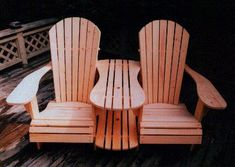 Adirondack Settee Plans - DWG files for CNC machines