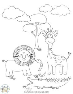 Wild Animals Printables for Preschool and Kindergarten - Natural Beach Living Animal Activities For Kids, Printable Activities For Kids, Preschool Activities, Farm Crafts, Bug Crafts, Animal Coloring Pages, Coloring Pages For Kids, Writing Prompts For Kids, Kids Writing