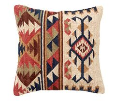 Shelton Kilim Pillow Cover | Pottery Barn