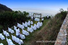 Ceremonia con vista al mar, ideal para tu boda en playa por Bodas Huatulco