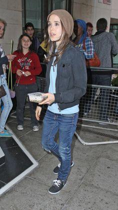 skinny jeans, gray jacket, taupe beanie, aqua tee shirt