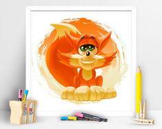 Items similar to Cute Fox. Children Playroom Decor on Etsy Children Playroom, Art Children, Art Wall Kids, Wall Art, Fox Kids, Cute Fox, Playroom Decor, My Etsy Shop, Art Prints