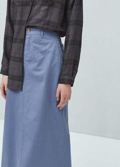 Katoenen rok met zakken | MANGO