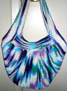 """The """"Fat Bag""""...Even Fatter: free pattern.  (I removed the previous post as they changed the link to one already made & for sale) ✿Teresa Restegui http://www.pinterest.com/teretegui/✿"""