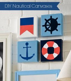 How to make DIY nautical canvases