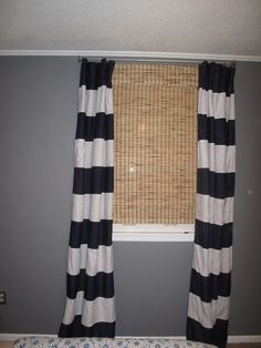 easy and cheap striped curtains out of sheets Bed Sheet Curtains, Strip Curtains, Bedroom Curtains, Old Bed Sheets, Flat Sheets, Closet Nook, Curtain Tutorial, Flat Bed, Beautiful Curtains