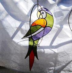 """Stained glass panel - """"Oriole in a Floral Surrounding"""" Making Stained Glass, Stained Glass Birds, Stained Glass Suncatchers, Faux Stained Glass, Stained Glass Designs, Stained Glass Projects, Stained Glass Patterns, Leaded Glass, Stained Glass Windows"""