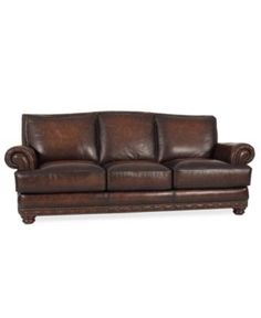 "Bryce Leather Sofa, 91.5""W x 41.5""D x 39""H - furniture - Macy's"