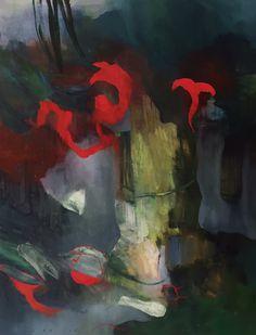 """"""" Red Ornament """" oil, Bjørnar Aaslund, 2015"""