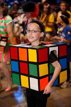 Rubiks cube at the duct tape ball for Jackson Costumes Faciles, Purim Costumes, Homemade Halloween Costumes, Halloween Costumes For Teens, Halloween Kids, Halloween Party, Witch Costumes, Halloween Stuff, Halloween Makeup