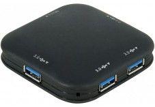 Hub 4 ports USB 3.0 noir avec alimentation 5V 3Amp