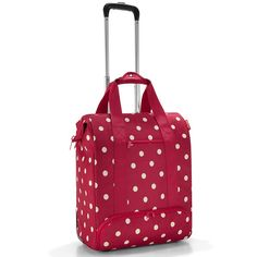 Reisenthel All Rounder Wheely Ruby Dots Trolley, Diaper Bag, Polka Dots, Red, Bags, Shopping, Fashion, Polka Dot, Red Watches