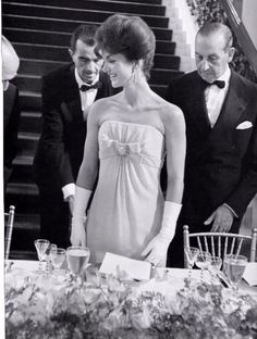 Jackie Kennedy at the America's Cup ball at The Breakers, 1962.