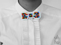Colourful Bow tie pin by UHHU on Etsy, €4.00