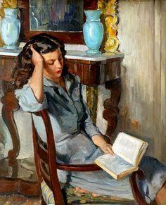 Mujer Leyendo, Alberto Rafols Culleres (1892-1986)