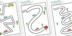 Twinkl Resources >> Transport Pencil Control Path Worksheets  >> Classroom printables for Pre-School, Kindergarten, Primary School and beyond! fine motor skills, fine motor worksheets, worksheets,