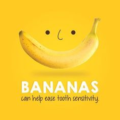 Dental Tip Of The Day: BANANAS are a great source of oxalic acids which helps ease tooth pain and sensitivity. Dental Tip Of The Day: BANANAS are a great source of oxalic acids which helps ease tooth pain and sensitivity. Humor Dental, Dental Quotes, Dental Hygiene, Dental Care, Dental Group, Medical Dental, The Nanny, Invisalign, Dental Fun Facts