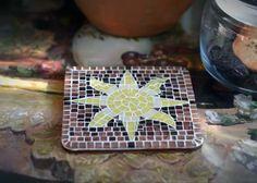 mosaic art quarter, for beginners, master class, the sun Materials: wood harvesting, sandpaper, acrylic primer, brush, glue, mosaic, pliers,...