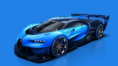 This new Bugatti won't even cost an entire Lamborghini more than the Veyron, mostly because it's not real. Yet they will build a Bugatti Vision Gran Turismo show car for Frankfurt, and it's the Veyron race car we've always needed. Bugatti Veyron, Bugatti Chiron 2017, Bugatti Cars, Lamborghini Huracan, Bugatti 2016, Sport Cars, Race Cars, Motor Sport, Luxury Sports Cars