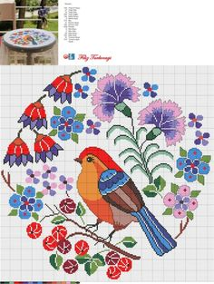 Etamin Templates Bird Patterns – Ebru Pek – Join the world of pin Cross Stitch Pillow, Cross Stitch Love, Cross Stitch Animals, Cross Stitch Flowers, Cross Stitch Charts, Cross Stitch Designs, Cross Stitch Patterns, Cross Stitching, Cross Stitch Embroidery