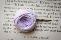 Ombre Rosette Bobby Pin in Lilac Purple 1.25 by Brydferth on Etsy, $10.00