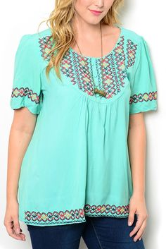 http://www.dhstyles.com/Mint-Red-Plus-Size-Girly-Flowy-Sheer-Paneled-Flora-p/ire-9091x-mint-red.htm
