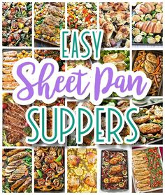 Looking for some quick, delicious and easy ONE Sheet Pan Suppers? These recipes are all simple, fast, family tested and party crowd {even picky eaters} approved! Perfect for family styl…
