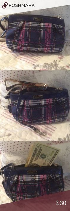 Coach Wristlet One sided strap, inner side pocket..Never used Coach Bags Clutches & Wristlets