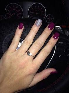 New Nails Gel Glitter Purple パープルネイルのアイデア Ideas Fancy Nails, Love Nails, How To Do Nails, Pretty Nails, Nails Polish, Shellac Nails, Gel Nail, Acrylic Nails, Stiletto Nails