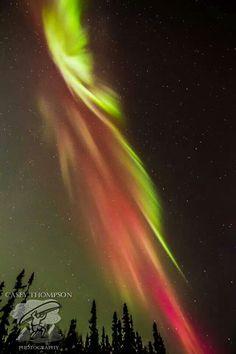 Beautiful northern lights in Alaska