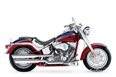 2006 Harley-Davidson CVO Fatboy, this is what my boyfriend has...with shield and side bags. Was the fastest Harley in the garage until mine :) hee hee