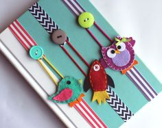 Pick ANY 2 Bookmarks Elastic Ribbon Elastic Bookmark Planner Accessories Kids Bookmark Place Holder Text Book Planner Felt Crafts, Fabric Crafts, Sewing Crafts, Sewing Projects, Craft Projects, Paper Crafts, Wood Crafts, Bookmarks Kids, Ribbon Bookmarks
