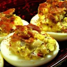 Jalapeno Bacon Cheddar Deviled Eggs - Allrecipes.com