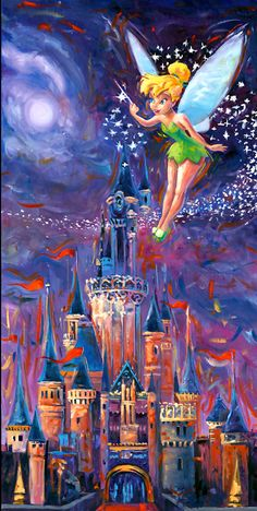 Tink's Pixie Dust - by William Silversgiclee on canvas