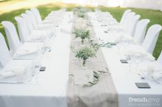 You searched for montpellier - la mariee aux pieds nus Baby's Breath Wedding Flowers, Wedding Table, Wedding Day, Buffet, Table Place Settings, Zen Style, Wedding Decorations, Table Decorations, Elegant Table